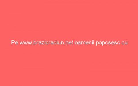 Pe www.brazicraciun.net oamenii poposesc cu ganduri bune